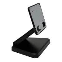 """Monitor Stand, Tilt Bracket, Pre-Drilled Mount Holes, Black, for up to 10"""" screens"""