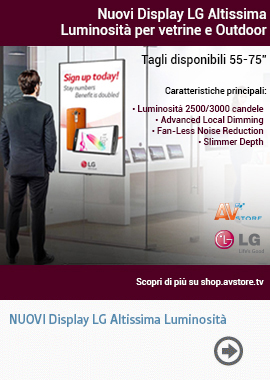 Nuovi Display LG Altissima Luminosità per vetrine e Outdoor